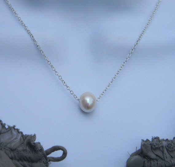 The Perfect Pearl Necklace in Silver FREE Shipping