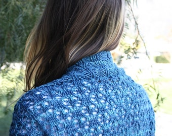Knitting Pattern PDF - Lima Lace Shrug