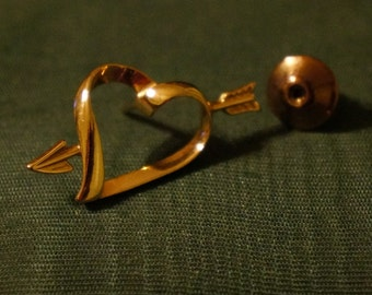 Vintage Heart Tie Tac or Hat Pin AVON
