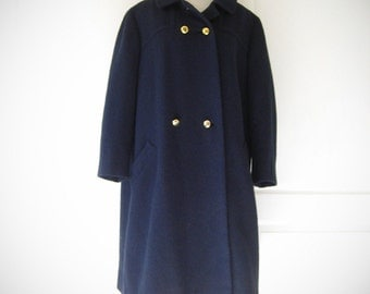 50s navy Perkins-Timberlake hopsack swing coat