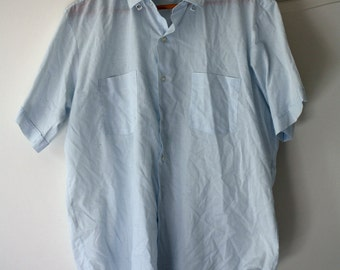 60s Arrow blue short sleeve shirt