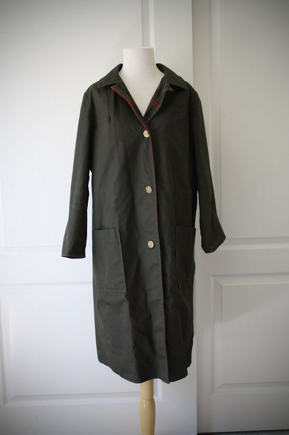 50s Minnesota Woolen olive green reversible coat