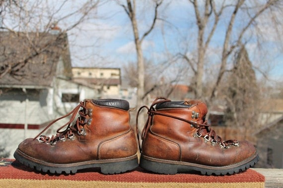 vtg. leather redwing IRISH SETTER Boot hiking mountainer boots mens size 8 1/2 D