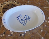 Ceramic Hand made Rooster plate