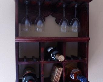 Cedar Vintage Wine Rack