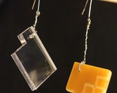 "Architectural Plexiglass Earrings ""Dara"" - bhenderson145"