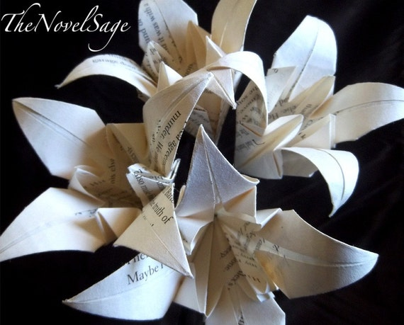 Small Bouquet of Salvaged Literature Lilies