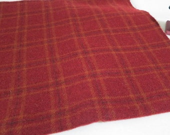 Felted Wool Fabric, Fat Quarter Yard, Brickhouse Red, J509