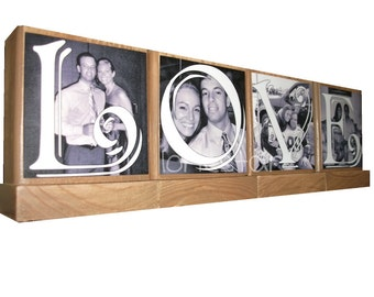 PHOTO BLOCKS- Great Christmas Gifts-Personalized Handmade custom wooden photo blocks-Great Valentines Day Gifts