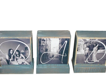 PERSONALIZED PHOTO GIFTS-Gifts for Dad,Pop,Mom- Personalized wooden photo blocks-Great Christmas Gifts