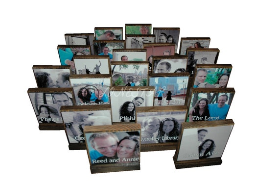 Personalized Wooden Photo Blocks to display DESTINATION Wedding,Vacations,Memories - Great  Gifts