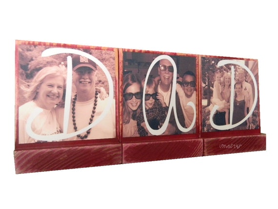 PERSONALIZED CHRISTMAS GIFTS-for Dad,Pop -Personalized wooden photo blocks