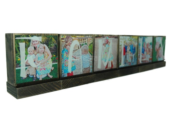 PERSONALIZED PHOTO BLOCKS -Family Personalized Gifts- Custom Wooden Photo Blocks-Anything is Possible-Great Christmas Gifts