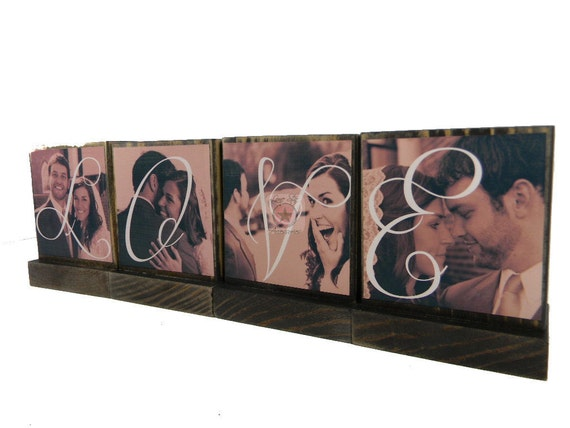 PERSONALIZED PICTURE FRAMES-   Handmade custom wooden photo blocks-Great gifts to give-Anything is possible
