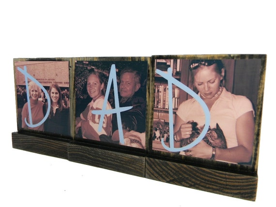PERSONALIZED PICTURE FRAMES-Great Gifts for Dad,Pop - Personalized wooden photo blocks-Great Christmas Gifts