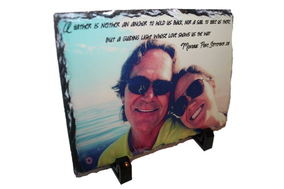 PERSONALIZED PHOTO GIFTS - Great Christmas Gifts-Great Family Photo Gifts-  Custom Granite signs for any phrase,sayings,pictures etc..
