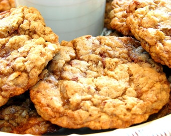 Oatmeal Coconut Toffee Cookies