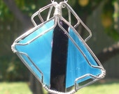 Glass Wire Wrapped Pendant