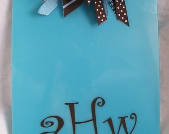 Personalized Clipboard with Monogram or Name and Coordinating Ribbons