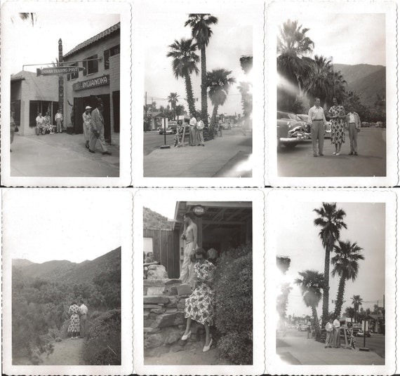 1952 PALM SPRINGS, Orig B&W Photographs, 6 Total