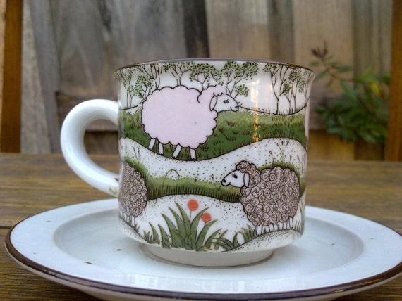 baa baa black sheep tea cup plant pot plant vessel cup and saucer