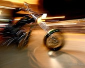 "12"" x 8"" Motorcycle Print, Chopper, Harley Davidson, Daytona Bike Week, Abstract, Fine Art Photography by Glennis Siverson"