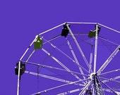 "12"" x 8"" Purple Ferris Wheel, Amusement Park Ride, Kids Decor, Child's Room, Photography by Glennis Siverson"