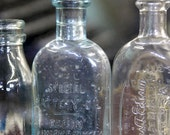 "8"" x 8"" Print of Vintage Thomas Edison Bottles, Steampunk Decor, Glass Jars, Fine Art Photography by Glennis Siverson"