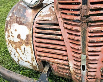 "8"" x 12"" Rusted Wreck Print, Abandoned Junk Yard Truck, Gift for Him, Broken Down, Fine Art Photography by Glennis Siverson"