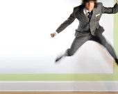 60s Mens Suit Gray Plaid Mod Skinny Lapel Hardy Amies Heavy Wool 38R 40R 32W