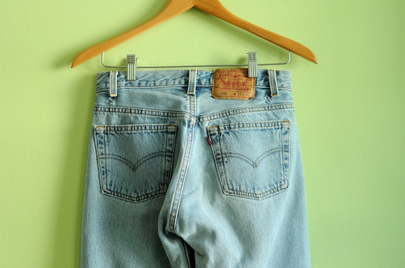 Levis 501 jeans light blue stone wash super soft worn in skinny straight slim 28x31 Lucky 7