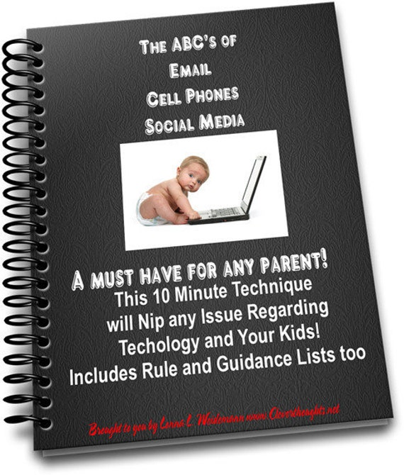 SALE...The ABC's of Computer Email Cell Phone and Social Media with Your KIDS e-book