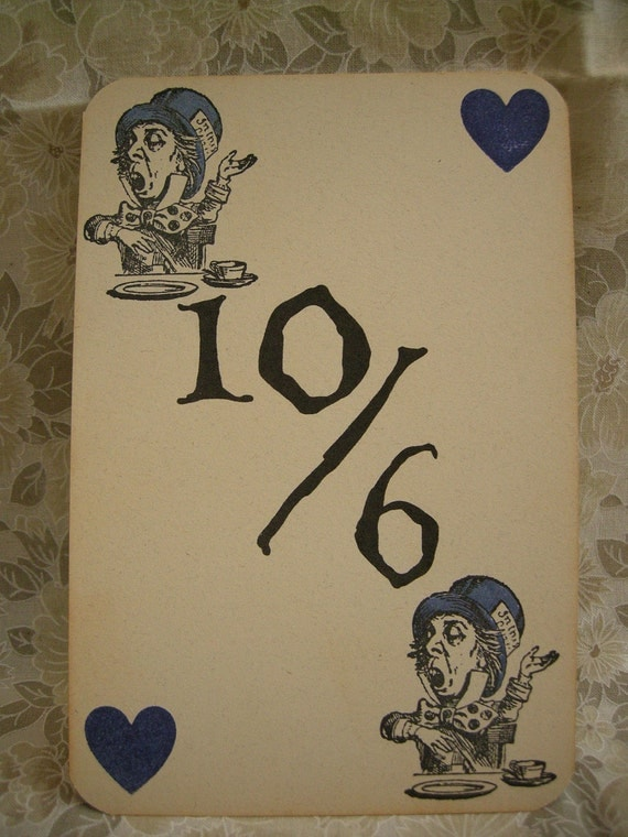 alice in wonderland 10 //6 cards for humanity