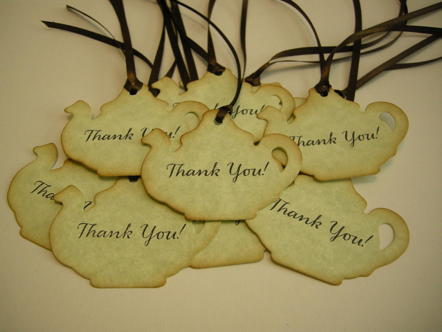 Mini Teapot Wedding Favor Tag Thank You Gift Tags By FyreflyHollow