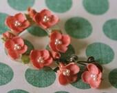 Pink Seashells Pin and Earring Set