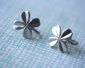 Four Leaf Clover Screw-Back Earrings