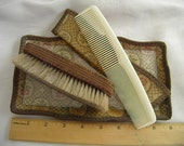 Custom Listing for Caroline        Hat Brush and Comb Tray Vanity Set in Paisley Floral