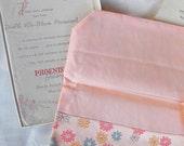 Peach Hosiery/Stockings Case, Includes Original Phoenix Hosiery Box and Tissue Lining
