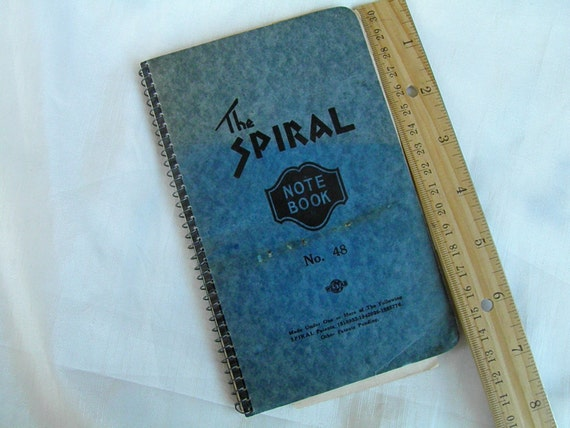 1928 Autograph Book Sayings in Spiral Notebook and Calendar Page Note