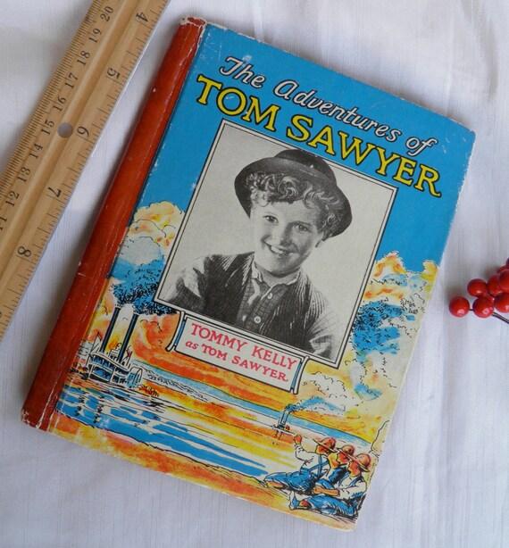 1938 Tommy Kelly Child Actor As Tom Sawyer -  Adventures of Tom Sawyer - Hardback Book
