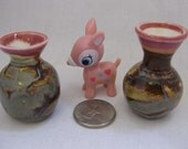 The Pink Ladies Miniature Porcelain Vase Set