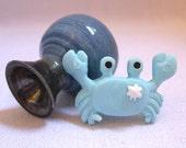 The Blue Crab Special Miniature Porcelain Vase
