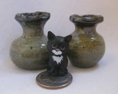 Kitten's Bliss Miniature Ceramic Vase Set