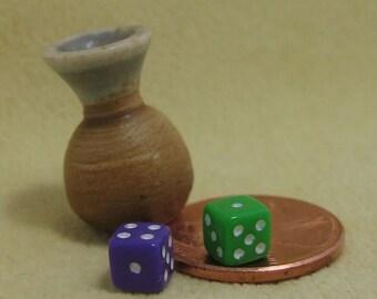 SALE! Miniature Porcelain Vase Rolls the Dice...