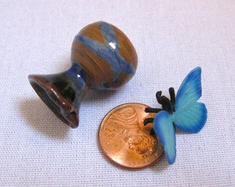 Fluttering Free Miniature Porcelain Vase