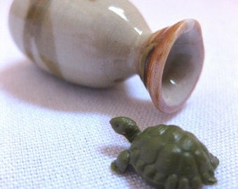 The Velveteen Turtle Porcelain Miniature Vase