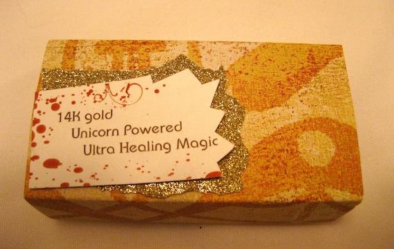14K Gold Unicorn Magic Miniature Note Card Set