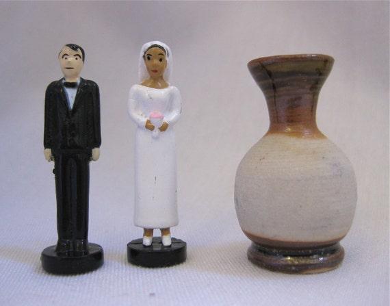 The Perfect Match Miniature Wedding Vase Set