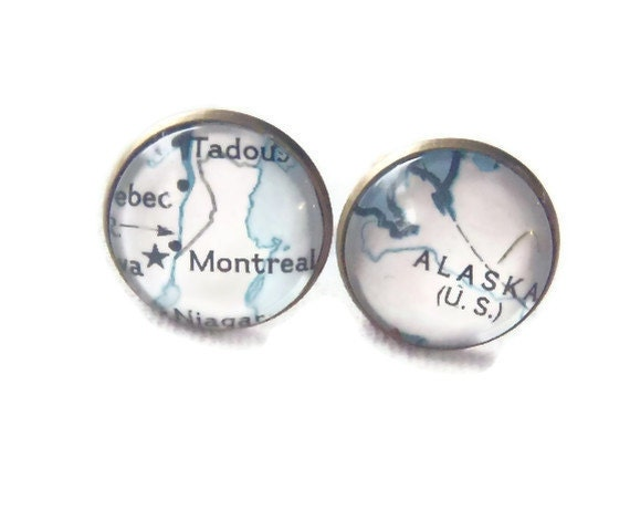 National Geographic Montreal Alaska Human Assisted Crane Migration Path On Cufflinks