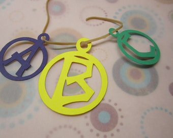 Circle Charm Letters